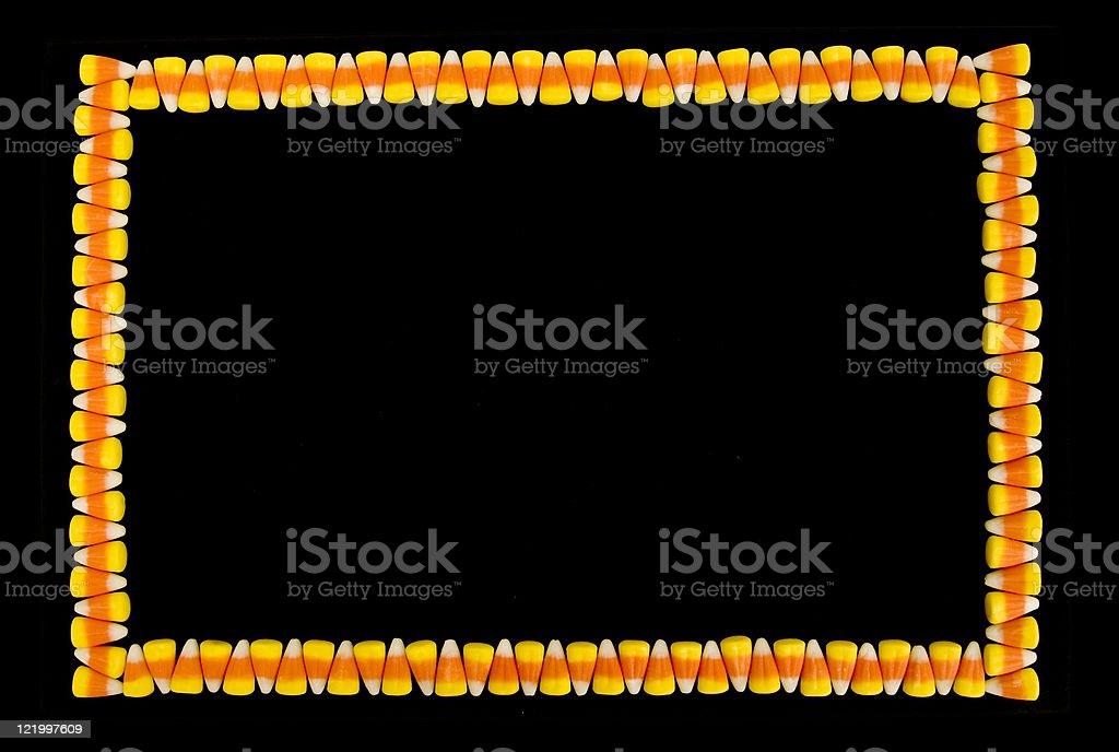Candy Corn Border royalty-free stock photo