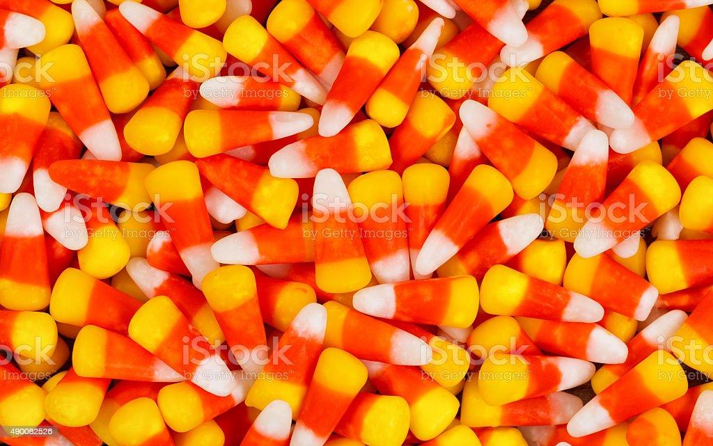 Candy corn for the Halloween season stock photo