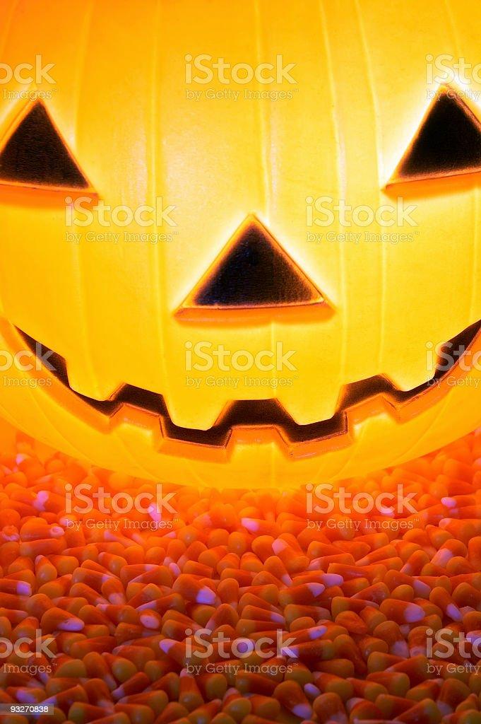 Candy Corn Pumpkin royalty-free stock photo