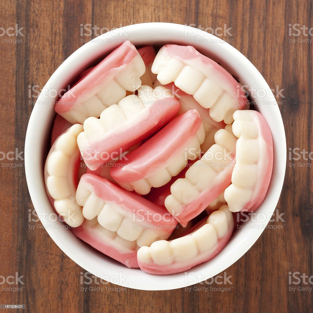 Candy dentures royalty-free stock photo