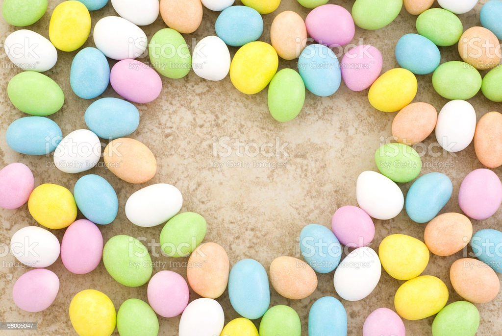 Candy Easter Egg Border Heart Shape royalty-free stock photo