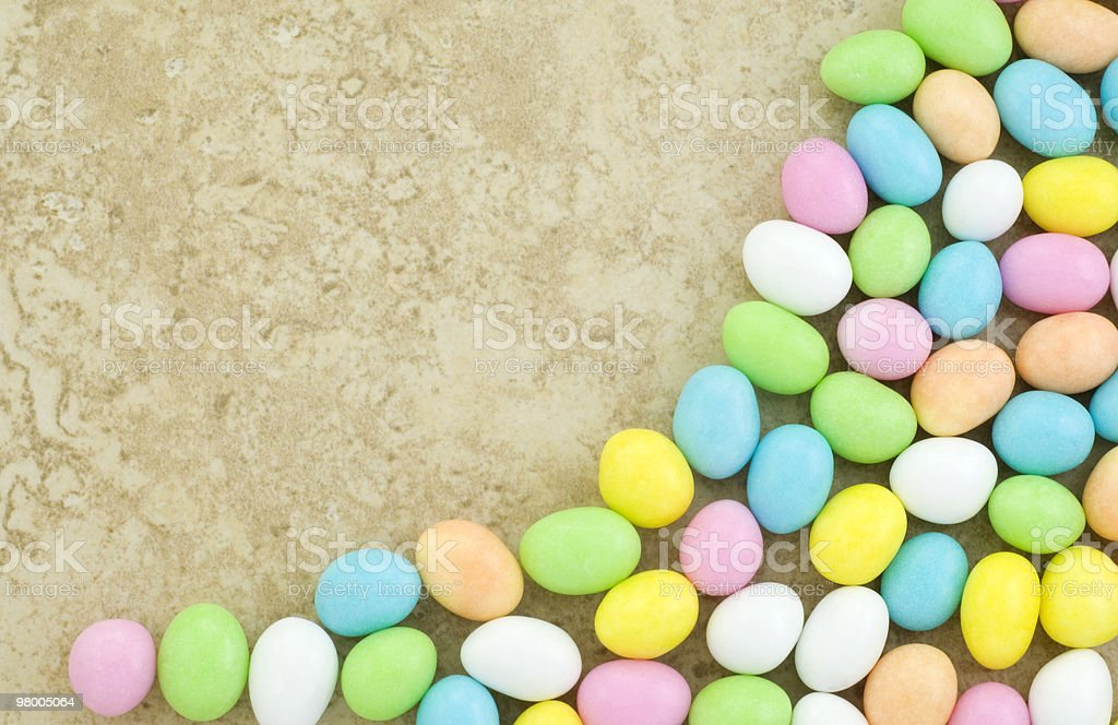 Candy Easter Egg Border royalty free stockfoto