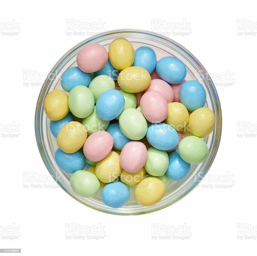 Candy Easter Eggs royalty-free stock photo