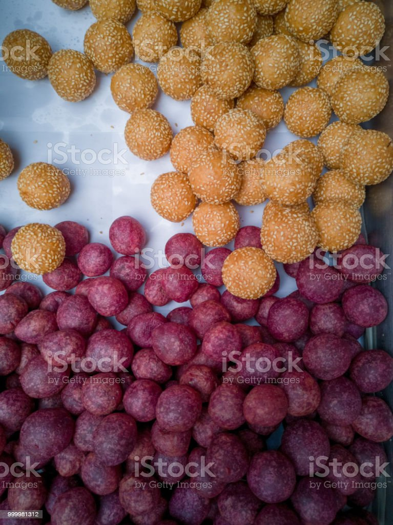 candy, fried, dessert, eggs, sweet, thai, food, background, white,...