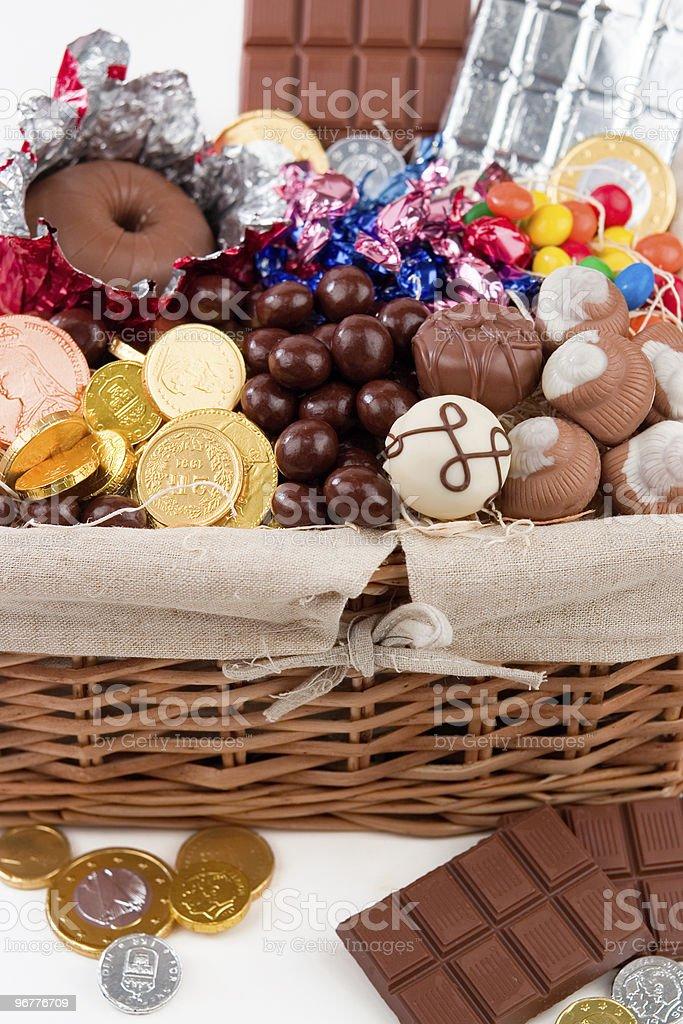 Candy Gift Basket - Royalty-free Basket Stock Photo
