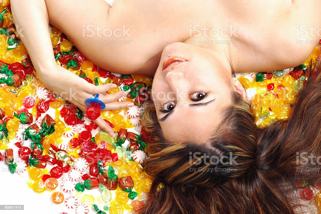 Candy girl stock photo