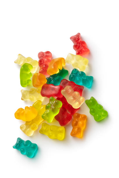 Candy: Gummy Bears Isolated on White Background stock photo