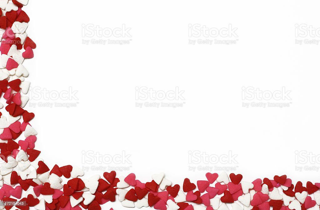 Candy Heart Boarder stock photo
