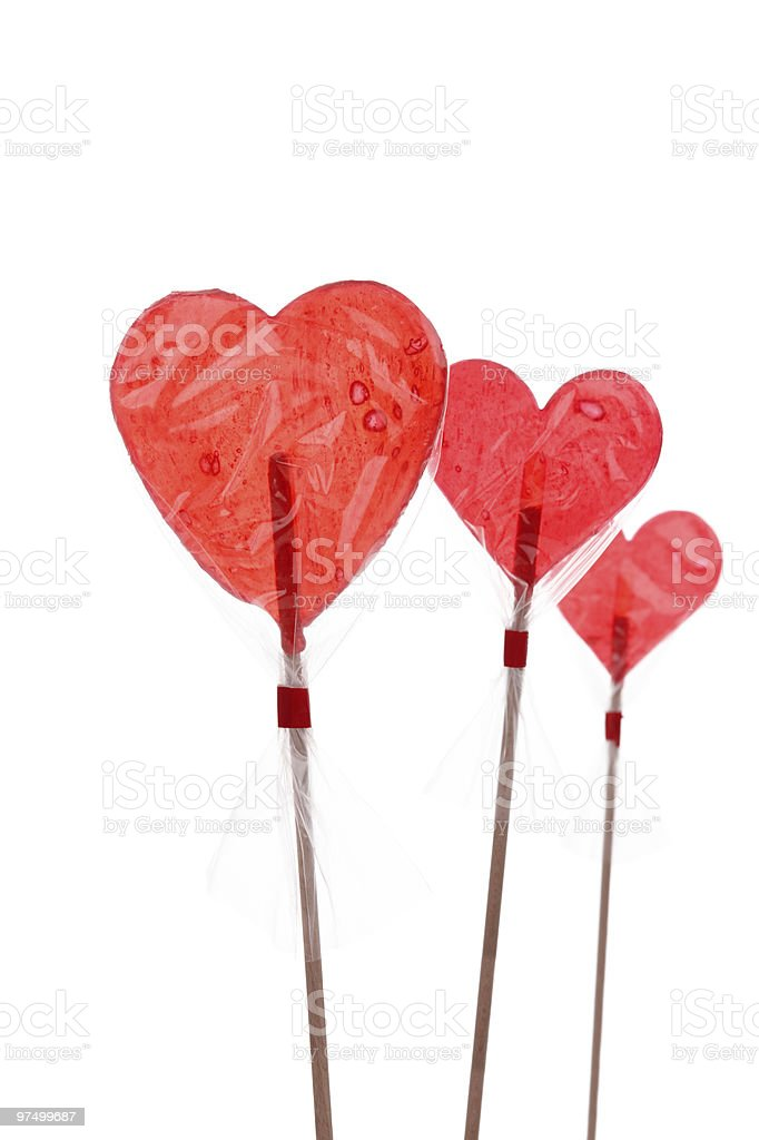 Candy Heart Lollipops royalty-free stock photo