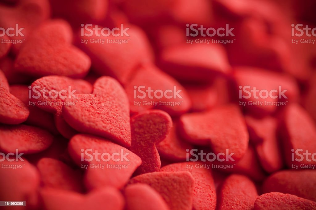 Candy heart Valentine's Day background royalty-free stock photo