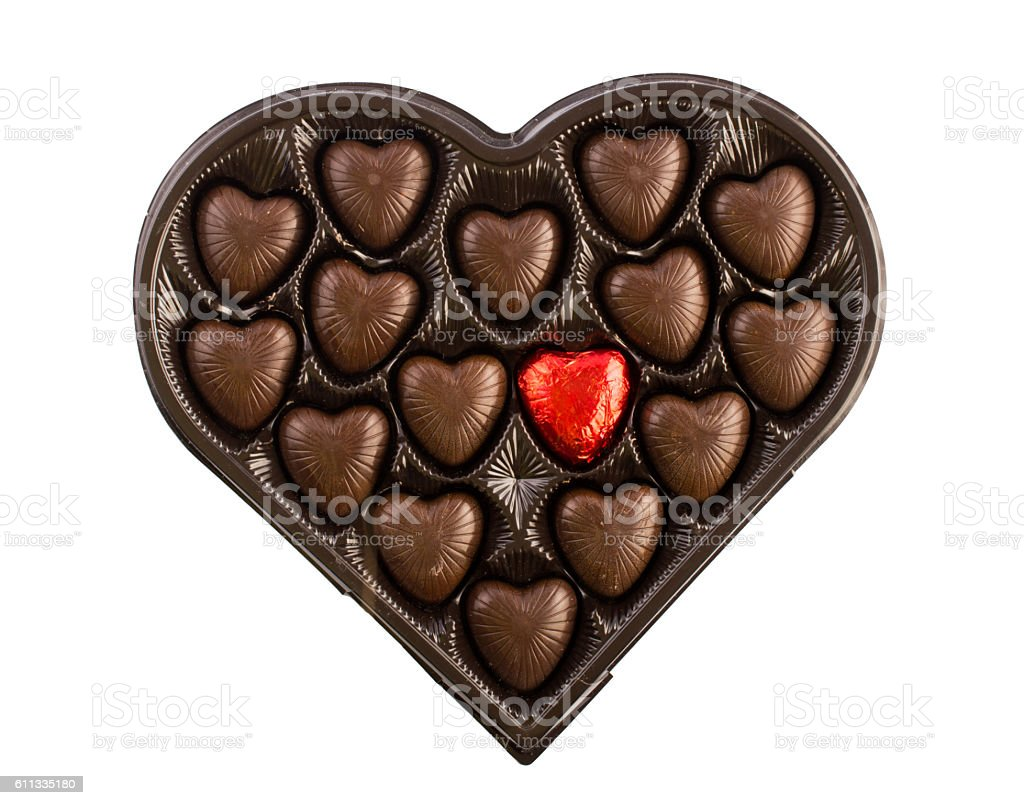 Candy hearts on Valentine's Day stock photo