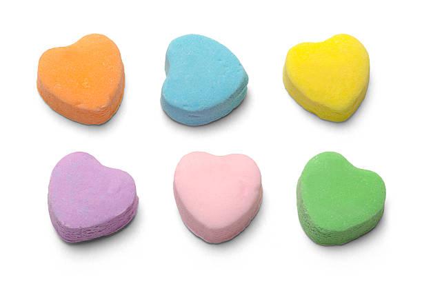 candy herzen  - süßigkeit stock-fotos und bilder