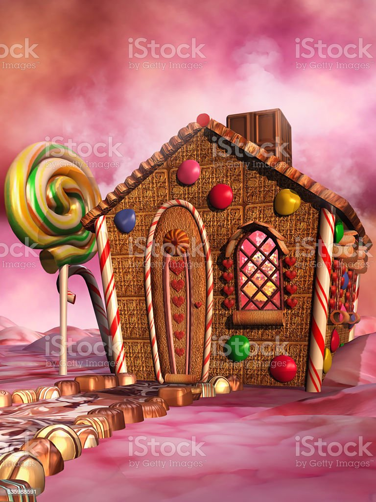 Candy house stock photo