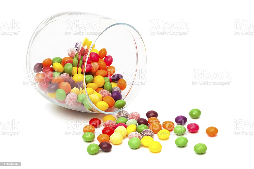 Candy in a glass jar royalty-free stock photo