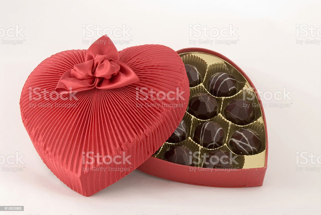 Candy in Fabric Box stock photo