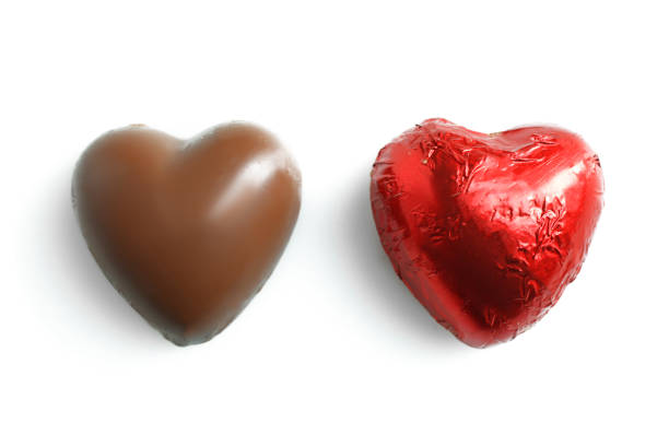 Candy in the shape of heart stock photo