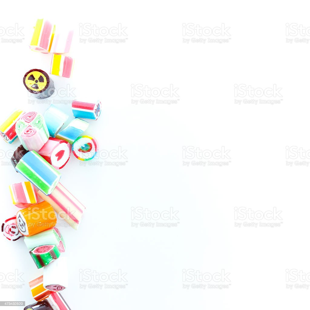 candy isolate on white background stock photo