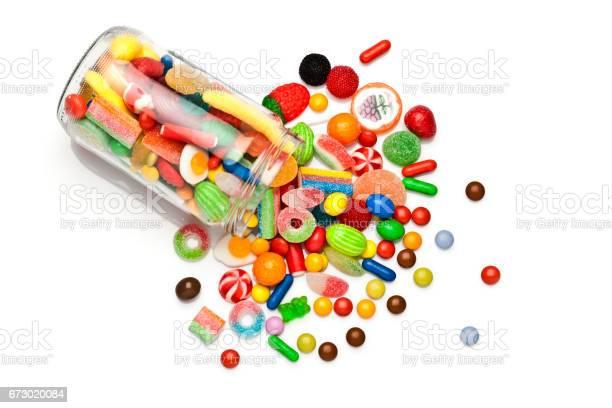 Candy Jar Auf Weißem Hintergrund Stockfoto und mehr Bilder von Ausgebleicht