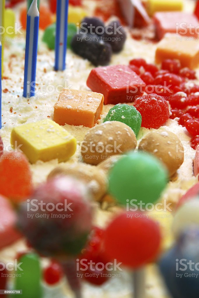 Candy Land Cake for Child's Sweetest Birthday royalty-free stock photo