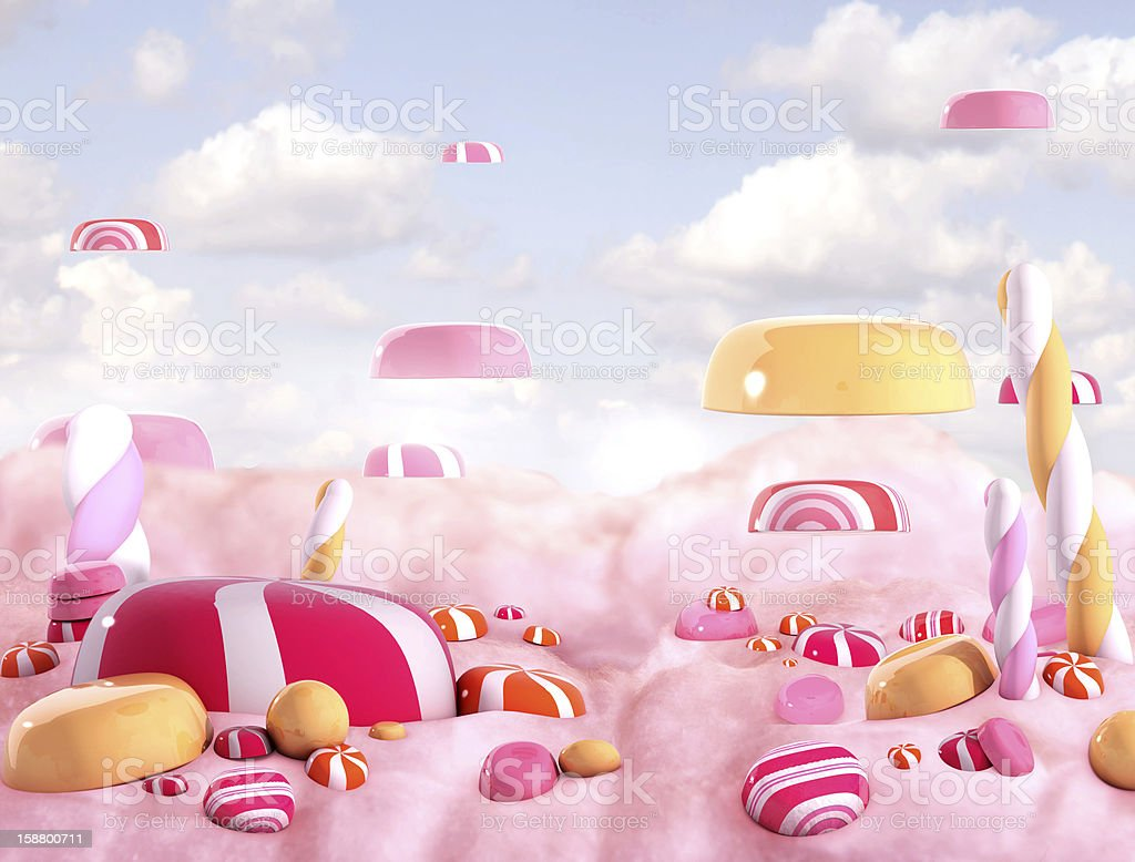 Candy land- bonbons royalty-free stock photo