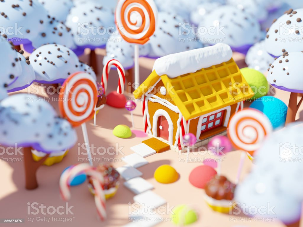 candy land landscape stock photo