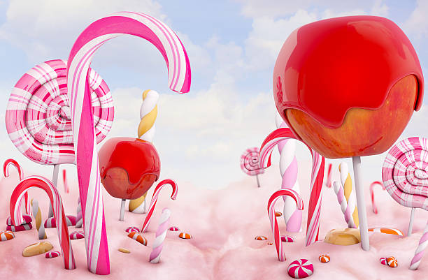 candy land - land stock photos and pictures