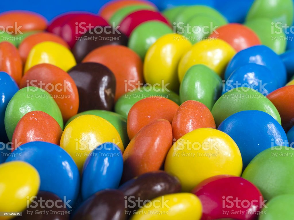 Candy Pieces Closeup royalty-free stock photo