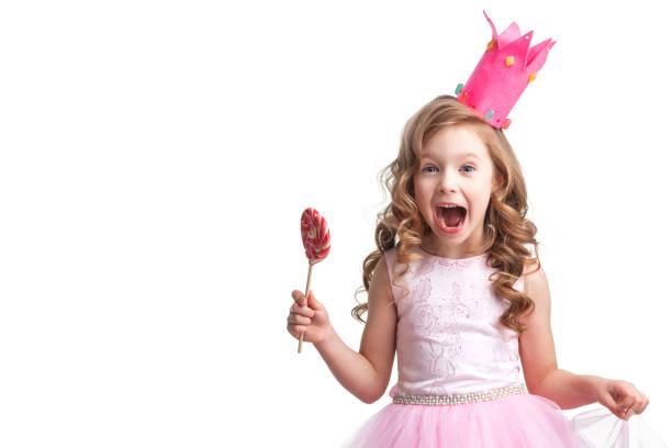 Candy princess girl stock photo