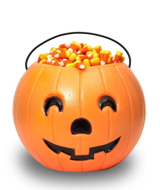 Candy Pumpkin (Clip Path) stock photo