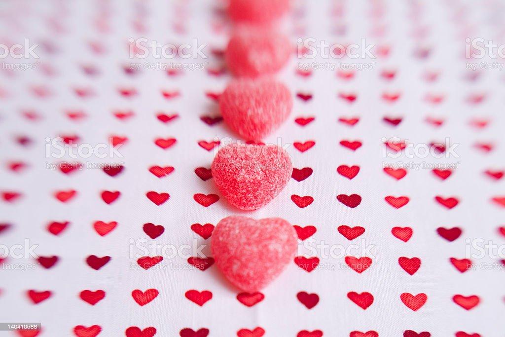 Candy row royalty-free stock photo