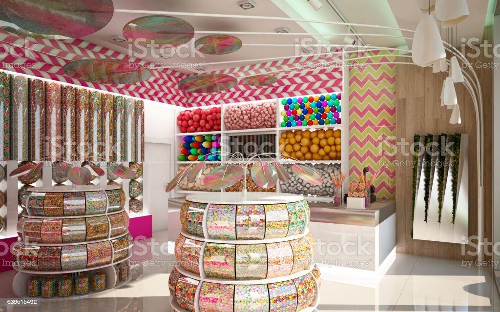 Candy Shop Camera 1 stock photo