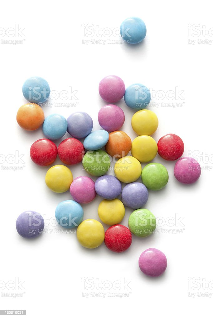 Candy: Smarties Isolated on White Background royalty-free stock photo
