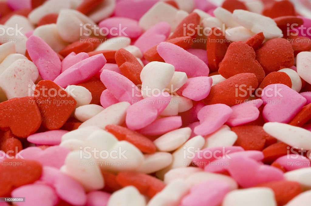 Candy Valentine's Hearts - Close-up stock photo