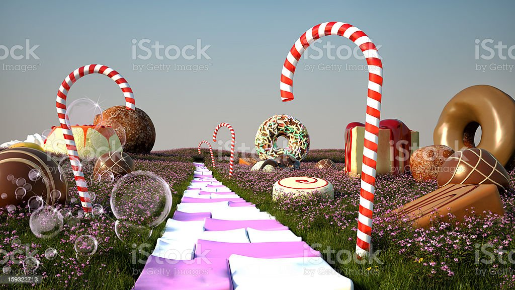 Candy World royalty-free stock photo