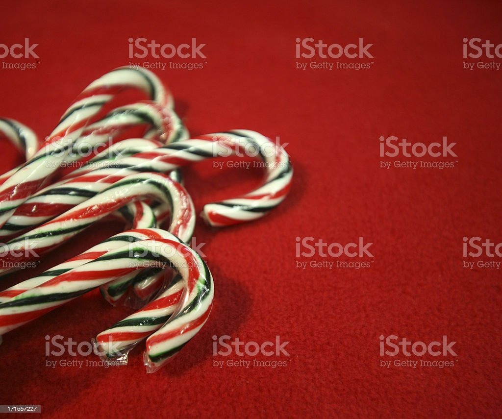 candycanes on red royalty-free stock photo