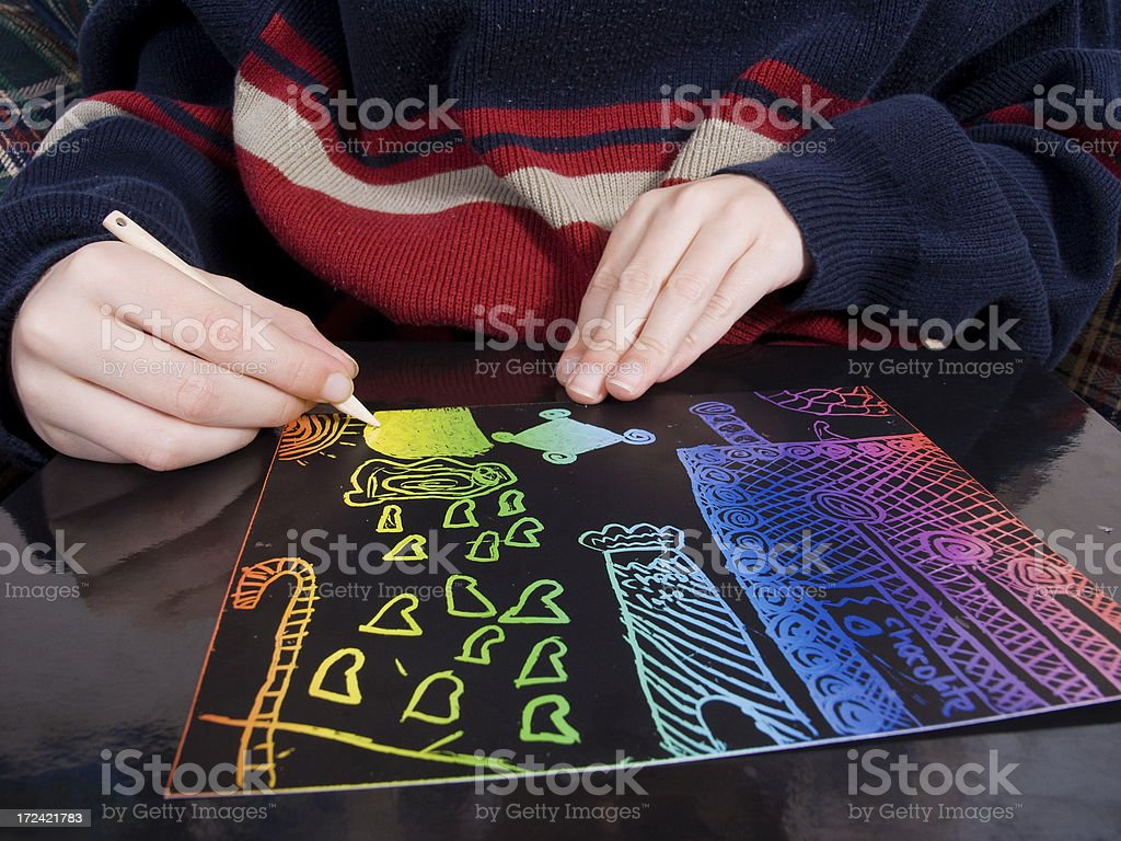 Candyland Drawing royalty-free stock photo