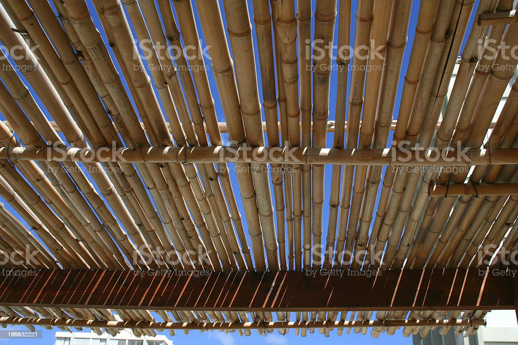 Cane Bamboo Roof stock photo