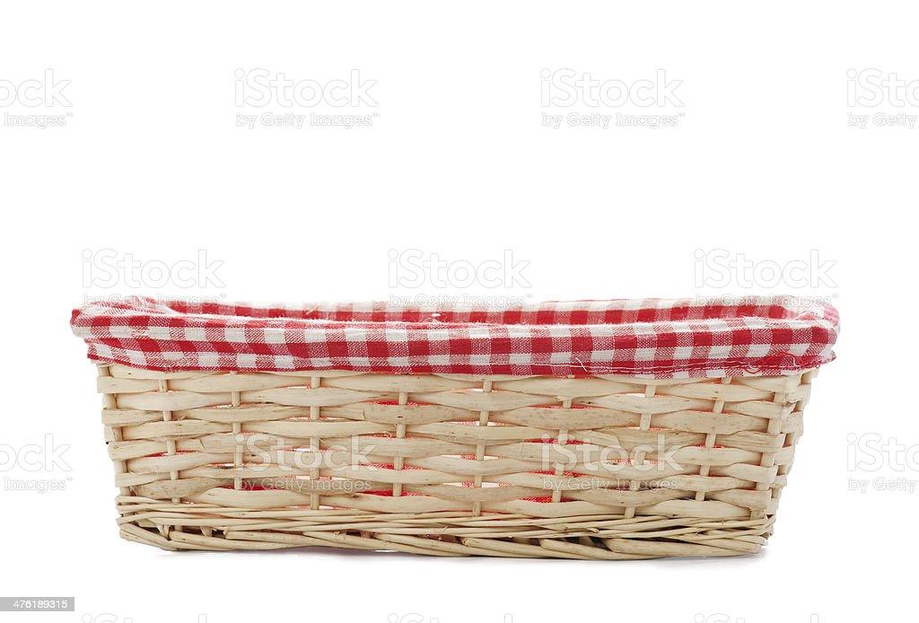 Cane bread basket isolated stock photo