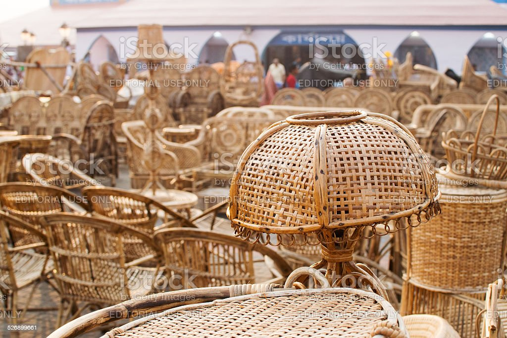 Cane Furnitures Indian Handicrafts Fair Stock Photo More Pictures