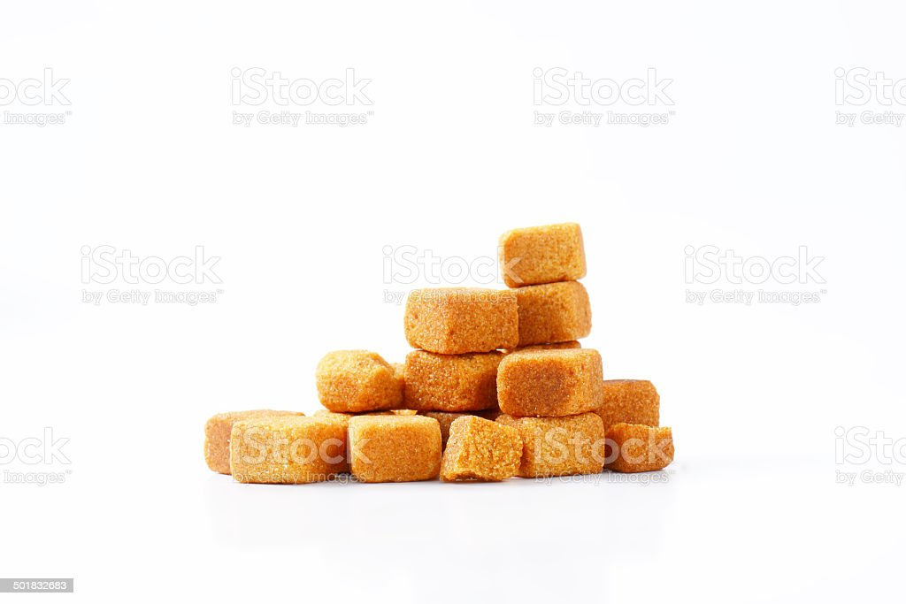 cane sugar cubes royalty-free stock photo