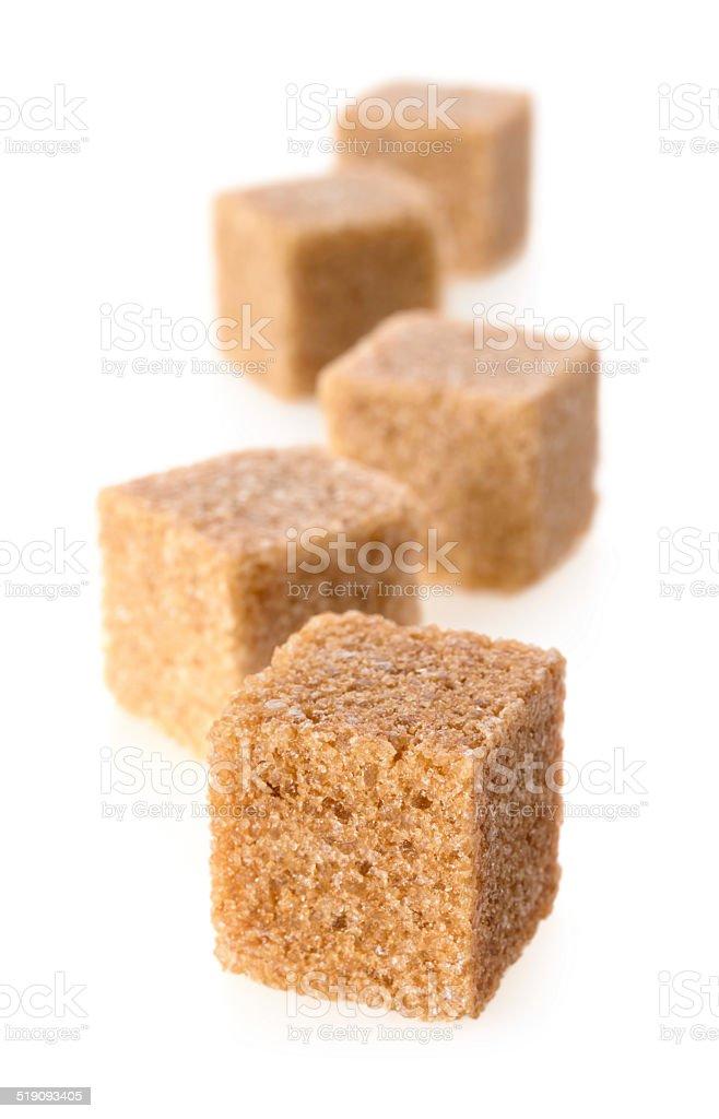 Cane sugar cubes stock photo