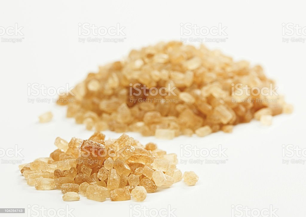 Cane sugar hill isolated on white royalty-free stock photo