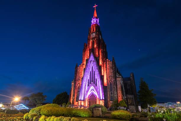 catedral de canela - rio grande do sul - canela - rio grande do sul - fotografias e filmes do acervo