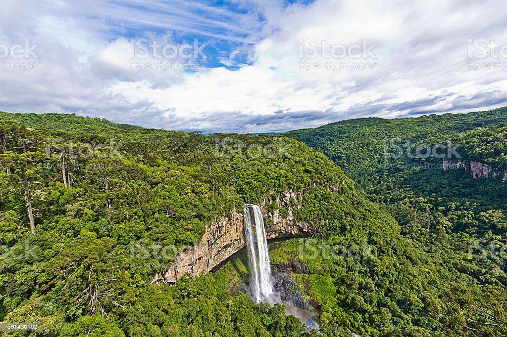 Canela city, Brazil. Caracol waterfall stock photo
