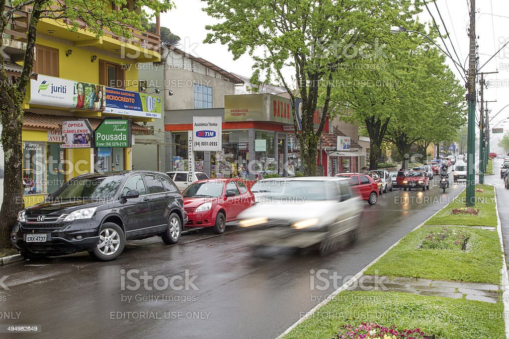 Canela city downtown, south of Brazil royalty-free stock photo