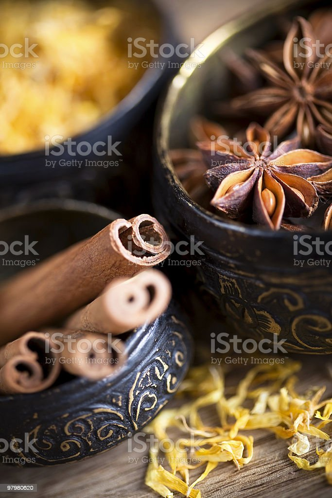 Canella and anise royalty-free stock photo