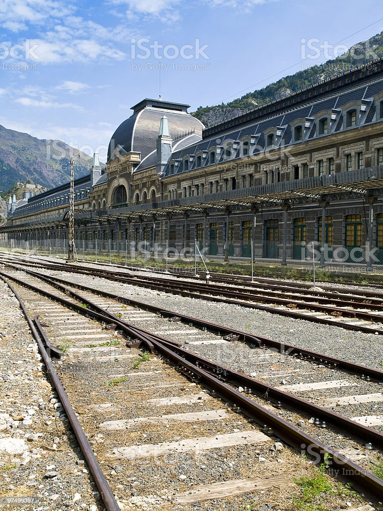 Canfranc Railway Station royalty-free stock photo