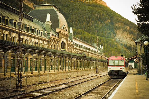 Canfranc train station stock photo
