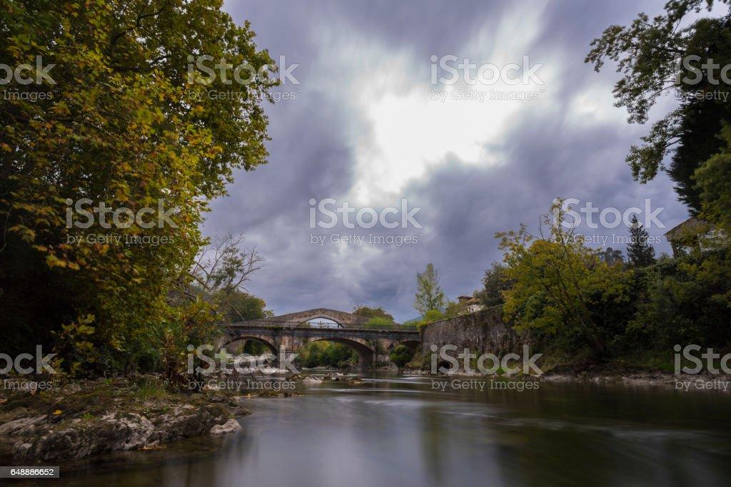 Cangas de Onis (Asturias, Spain). stock photo