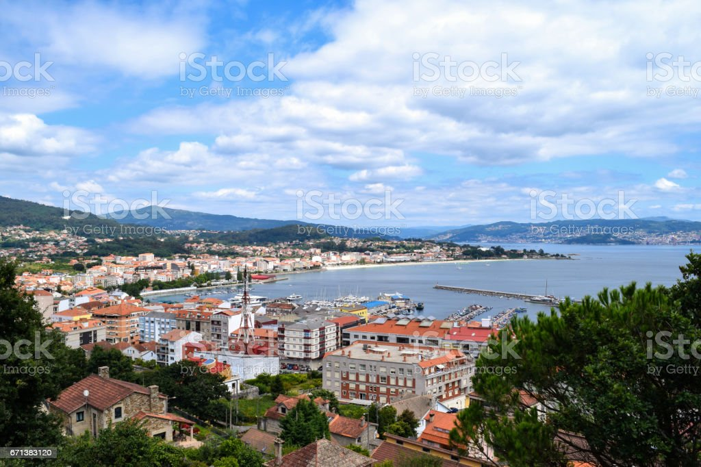Cangas on the Bay of Vigo stock photo